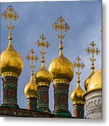 Domes Of The Church Of The Nativity Of Moscow Kremlin - Featured 3 Metal Print