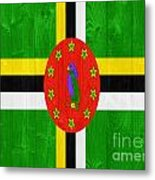 Dominica Flag Metal Print