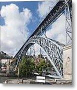 Don Luis Bridge In Oporto Metal Print