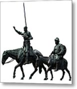 Don Quixote And Sancho Panza  Metal Print