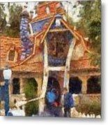Donalds Boat Disneyland Toon Town Photo Art 02 Metal Print