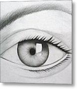 Donate Your Eyes Metal Print by Tanmay Singh