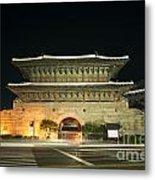 Dongdaemun Gate Landmark In Seoul South Korea Metal Print