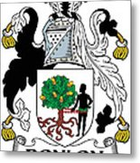 Donlon Coat Of Arms Irish Metal Print