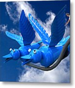 Donna's 1st Blue Bird Flight Metal Print