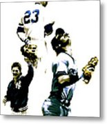 Donnie Baseball  Don Mattingly Metal Print by Iconic Images Art Gallery David Pucciarelli