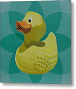 Don't Give A Rubber Duck Metal Print