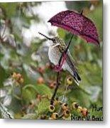 Don't Let It Rain On My Tree Metal Print