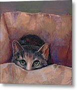 Don't Let the Cat out of the Bag Metal Print