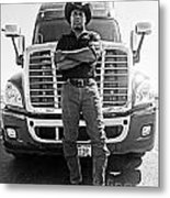 Don't Mess With My Truck Metal Print