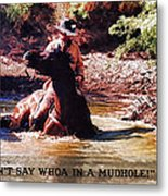 Don't Say Whoa In A Mudhole Metal Print