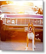 Don't Touch My Ride Metal Print