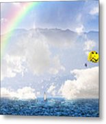 Dont Worry Be Happy Metal Print
