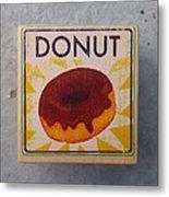 Donut Wood Block Metal Print
