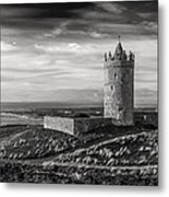 Doonagore Castle Black And White Metal Print