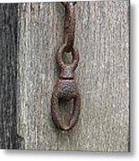 Door Chain In Color Metal Print