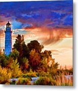 Door County Cana Island Wisp Metal Print