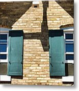 Door County Eagle Bluff Lighthouse Shutters Metal Print