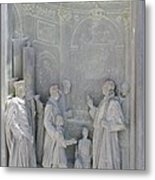 Door Detail Cathedral Siena Metal Print