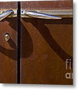 Door Handle Shadows   #0969 Metal Print
