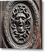 Door In Paris Medusa Metal Print by A Morddel