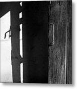 Door In Silhouette  Metal Print