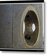 Door Knob Hole I Metal Print