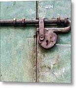 Door Lock Metal Print