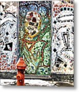 Door Mosaic Metal Print