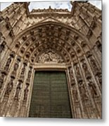 Door Of Assumption Of The Seville Cathedral Metal Print