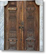 Door Of The Topkapi Palace - Istanbul Metal Print