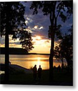 Door Peninsula Sunset Metal Print