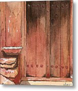 Door Series - Door 11 - Village Of Albanayeh Near Natanz Metal Print