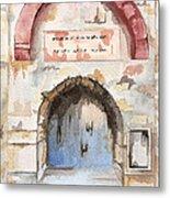 Door Series - Door 4 - Prison Of Apostle Peter Jerusalem Israel Metal Print