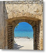 Door To Joy And Serenity - Beautiful Blue Water Is Waiting Metal Print