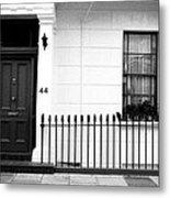 Door Window And Fence Metal Print