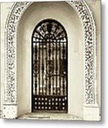 Door With Decorated Arch Metal Print