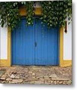 Doors And Windows Minas Gerais State Brazil 11 Metal Print