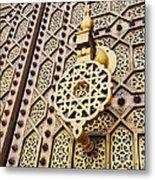 Doors Of The Hassan Mosque In Rabat Metal Print