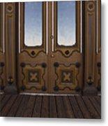 Doors To The Old West Metal Print