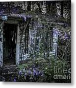 Doorway And Flowers Two Metal Print
