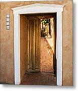 Doorway - Mesilla New Mexico Metal Print