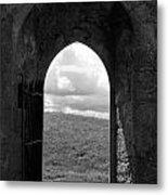 Doorway To Irish Landscape 1 Metal Print