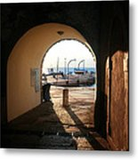 Doorway To The Sea Metal Print