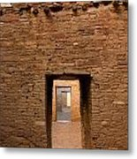 Doorways In Pueblo Bonito Metal Print