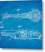 Dopyera Dobro Hawaiian Lap Steel Guitar Patent Art 1939 Blueprint Metal Print