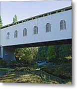 Dorena Covered Bridge 2 Metal Print