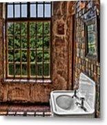 Dorm Bathroom Side View Metal Print