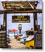 Dory Fishing Fleet Market Newport Beach California Metal Print by Paul Velgos