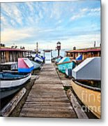 Dory Fishing Fleet Newport Beach California Metal Print by Paul Velgos